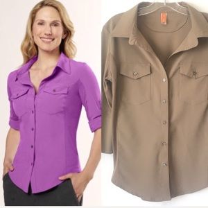 Lucy Tops - Lucy Fly Away Button Down Shirt